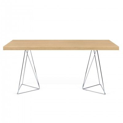 OAK MULTI TRESTLES DESK III