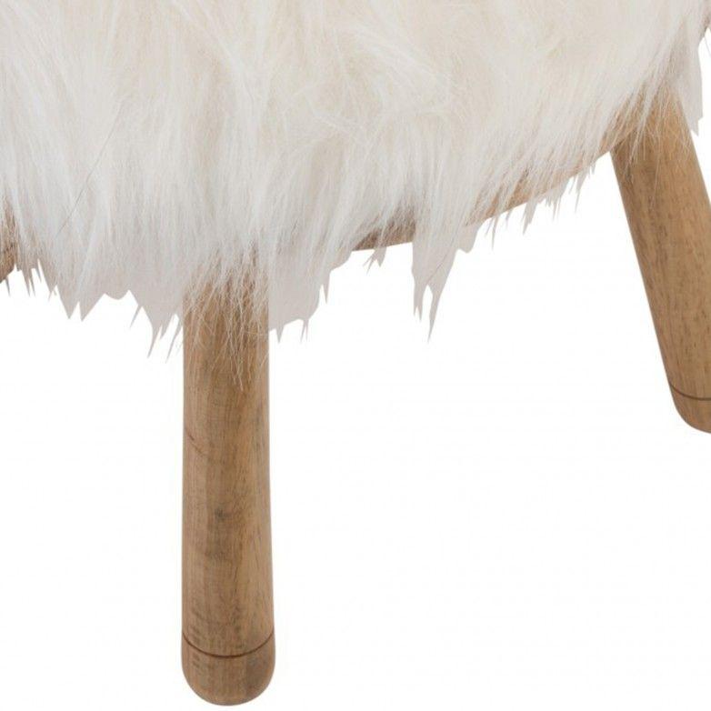 BANCO EARS SHEEP WOOD NATURAL