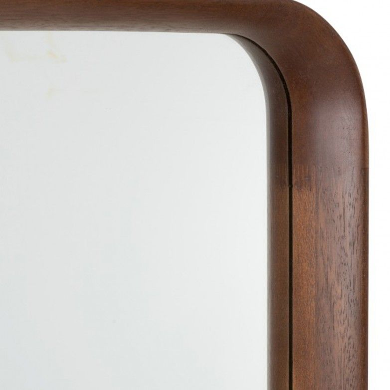 DARK BROW RECTANGULAR MIRROR