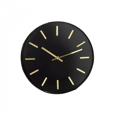 ROUND BLACK WALL CLOCK