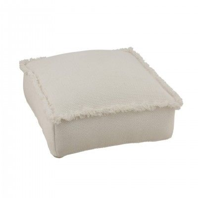 HASSOCK SQUARE FRINGES PUFF