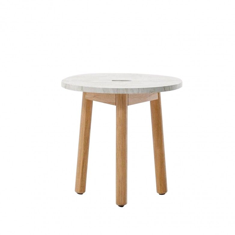 MARBLE OUTDOOR SIDE TABLE RIVA- KETTAL