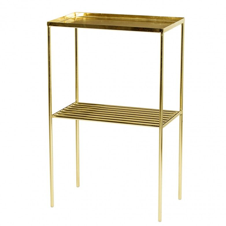 GRID GOLD SIDE TABLE