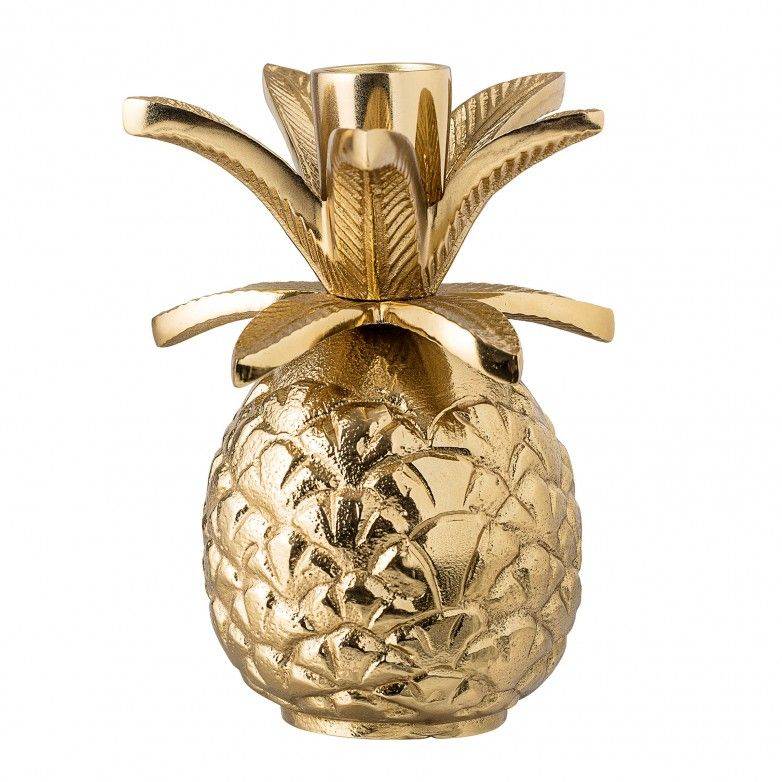 ALUMINUM GOLD CANDLE HOLDER