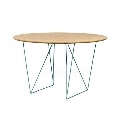 ROW OAK GREEN DINING TABLE