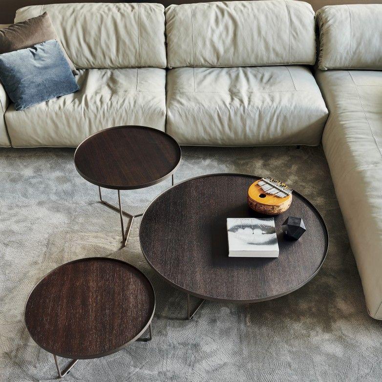 SET 3 BILLY WOOD SIDE TABLES - CATTELAN