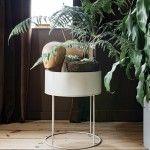 PLANT BOX ROUND GREY - FERM LIVING