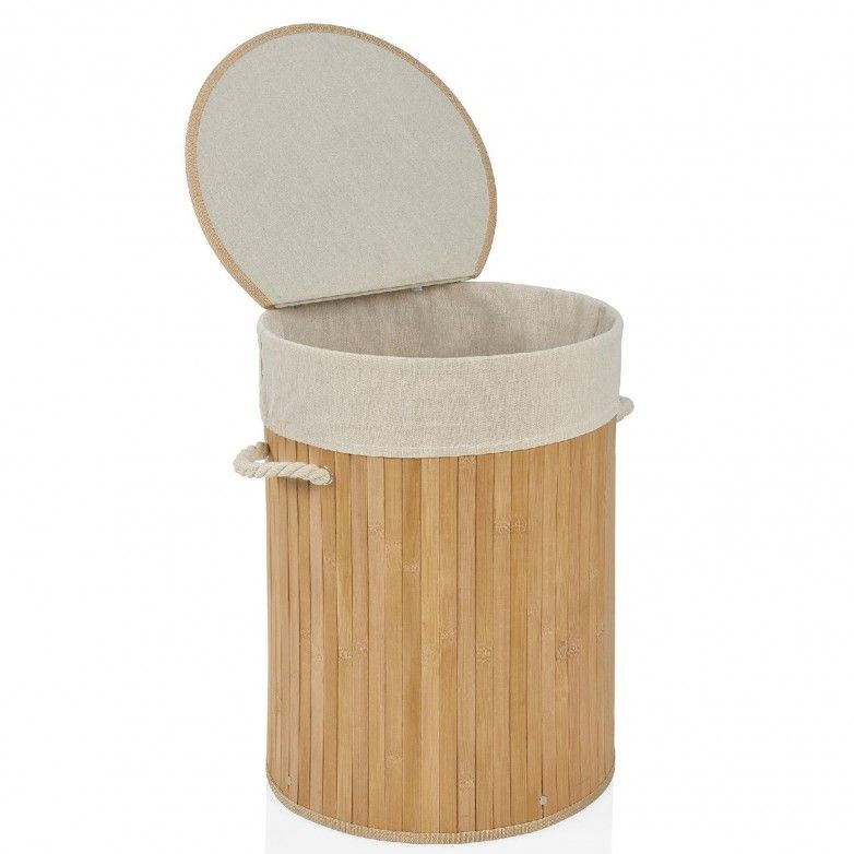 BAMBOO LAUNDRY BASKET - ANDREA HOUSE