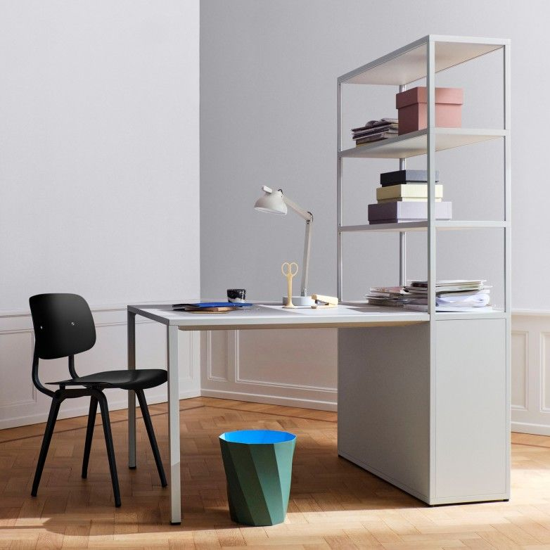 DESK WITH BOOKCASE - HAY