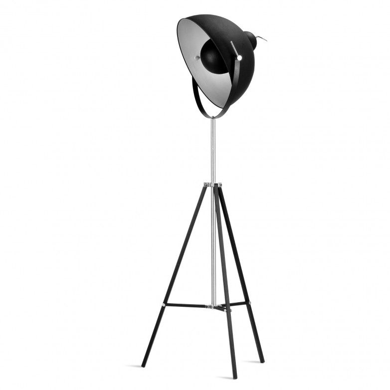 BLACK HOLLYWOOD FLOOR LAMP
