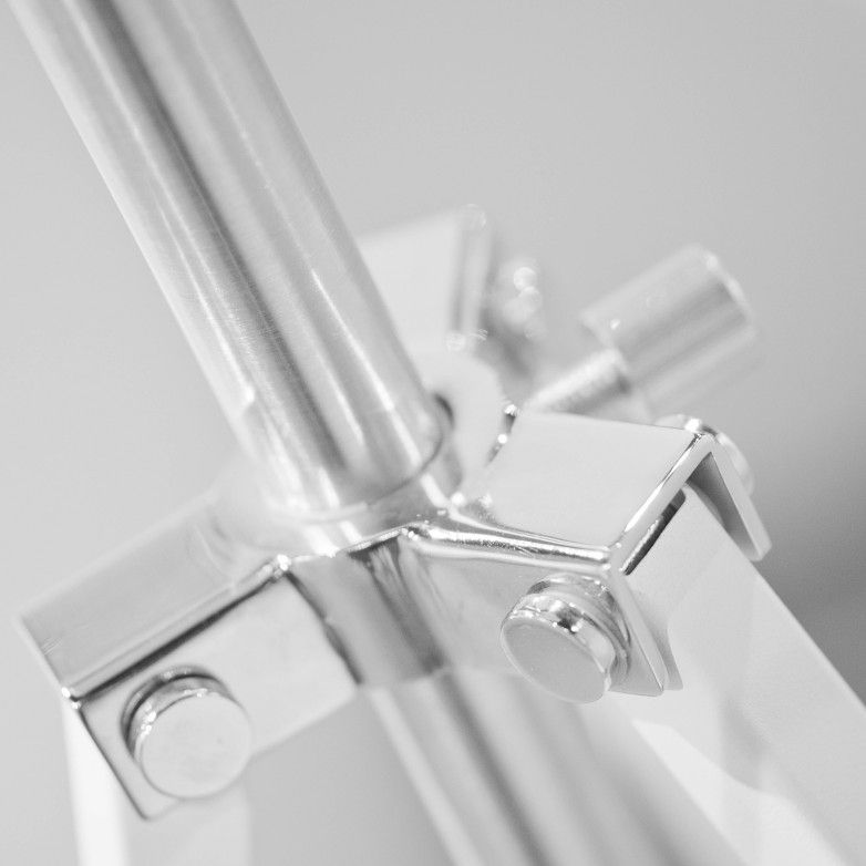 WHITE HOLLYWOOD FLOOR LAMP