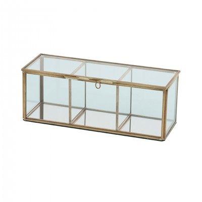 METAL GLASS DECORATIVE BOX 23