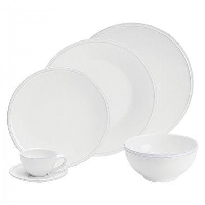 WHITE FRISO 36 PCS DININERWARE