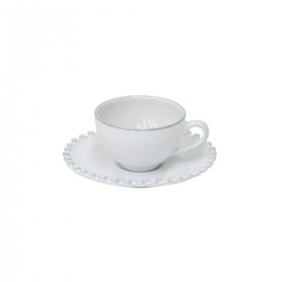 6 PEARL WHITE COFFEE CUPS & SAUCER