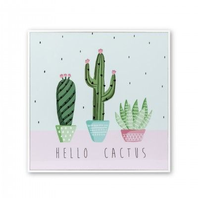 PICTURE WITH FRAME CACTUS